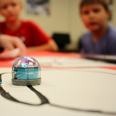 Students create and code with Ozobots
