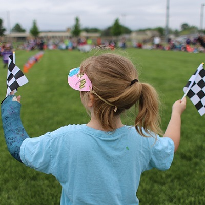 Students revved up for the Kindy 500