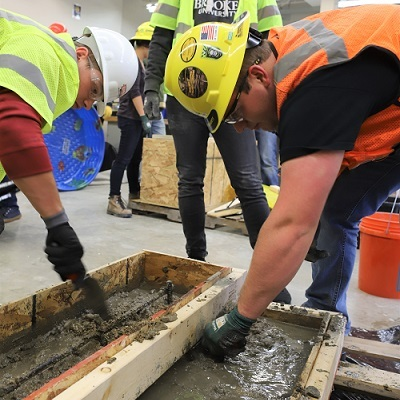TSC students pour foundation with Purdue