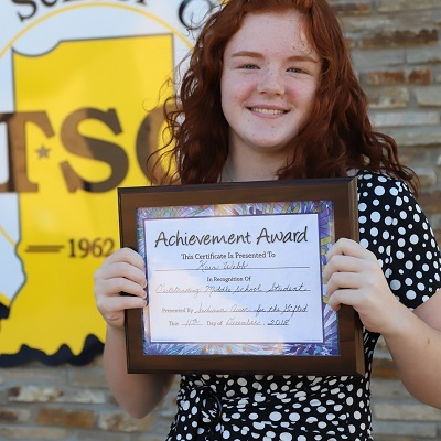 TSC student receives Distinguished Middle School Student Award