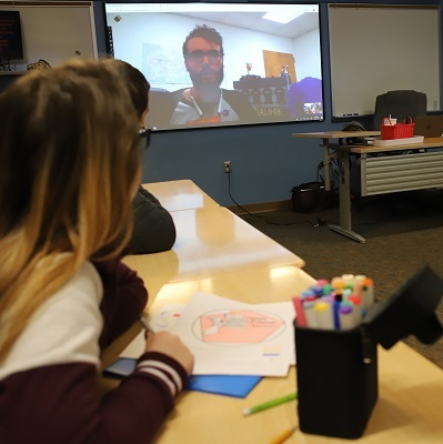 Harrison students hang out for inspiration