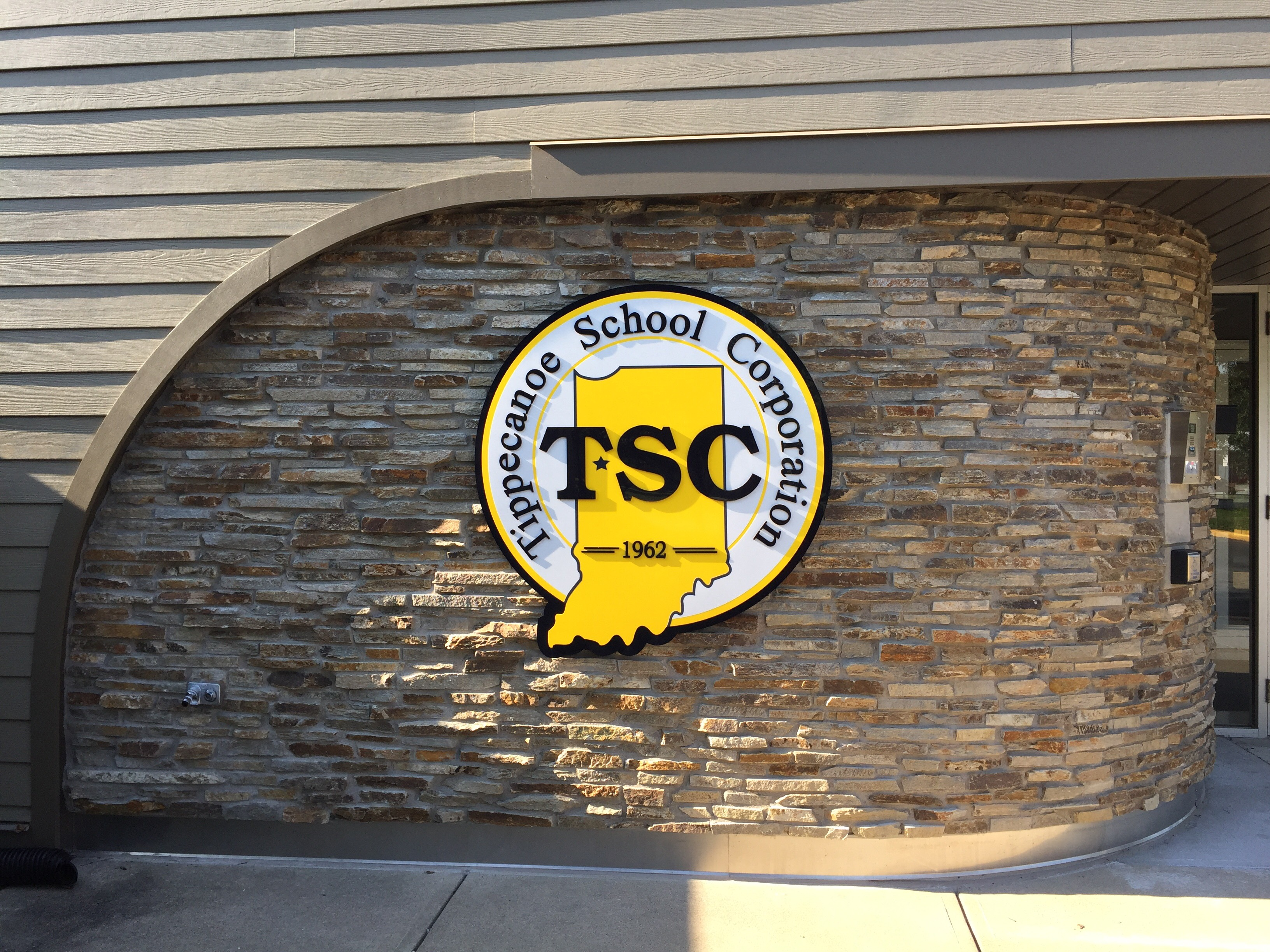 TSC Logo at the administrative building