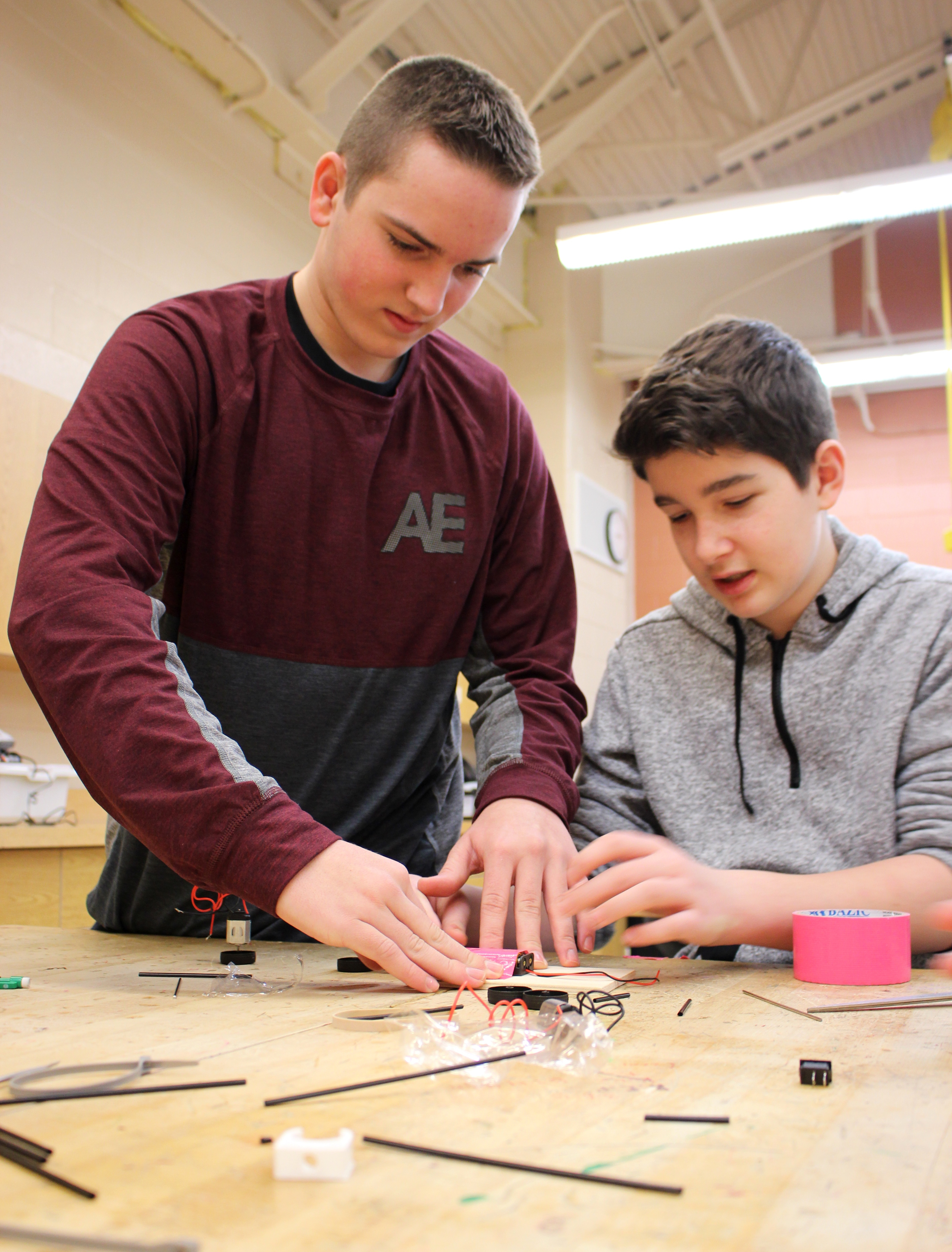 Students create battery-powered cars