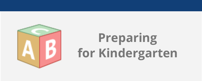 preparing for kindergarten